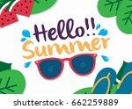 summer sale background layout... | Shutterstock .eps vector #662259889