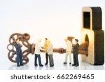miniature people   businessman... | Shutterstock . vector #662269465
