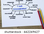 time management complete with... | Shutterstock . vector #662269627