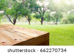 empty wood plank table food... | Shutterstock . vector #662270734