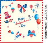 happy independence day united...   Shutterstock .eps vector #662271721