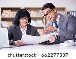 business couple having... | Shutterstock . vector #662277337