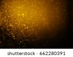 bokeh light gold color blurred... | Shutterstock . vector #662280391