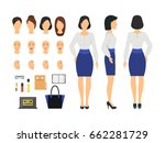 cartoon business woman and... | Shutterstock .eps vector #662281729