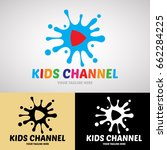 kids channel logo design for on ... | Shutterstock .eps vector #662284225