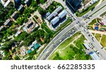 aerial city view with... | Shutterstock . vector #662285335