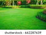 landscape formal  front yard is ... | Shutterstock . vector #662287639