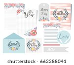 template for notebook and... | Shutterstock .eps vector #662288041