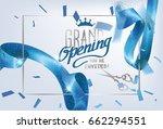 grand opening invitation card... | Shutterstock .eps vector #662294551