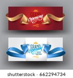 grand opening background with... | Shutterstock .eps vector #662294734