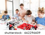 cheerful smiling children... | Shutterstock . vector #662296609