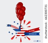 happy independence day card...   Shutterstock .eps vector #662300731