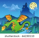 fairy tale image with dragon 4  ... | Shutterstock .eps vector #66230110