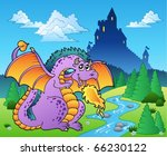 Fairy Tale Image With Dragon 2...