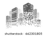 building and city illustration. ... | Shutterstock .eps vector #662301805
