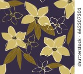 abstract flower seamless... | Shutterstock .eps vector #662307301