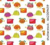 seamless pattern  colorful... | Shutterstock .eps vector #662309659