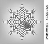 spider on web illustration....   Shutterstock .eps vector #662318521
