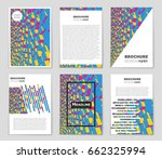 abstract vector layout... | Shutterstock .eps vector #662325994