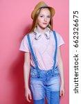 teen's fashion. cute girl... | Shutterstock . vector #662326675