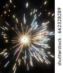 fireworks on festival dewali... | Shutterstock . vector #662328289