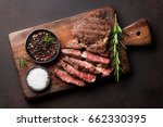 grilled beef steak with spices... | Shutterstock . vector #662330395