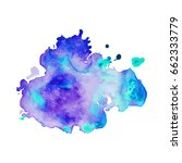 abstract hand drawn watercolor... | Shutterstock .eps vector #662333779
