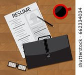 prepare for interview. vector... | Shutterstock .eps vector #662334034