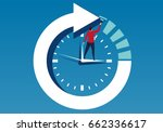 businessman and time | Shutterstock .eps vector #662336617