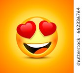 smiling face emotions love ...   Shutterstock .eps vector #662336764