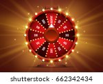 shining wheel of fortune.... | Shutterstock .eps vector #662342434