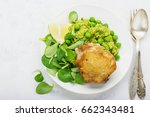 easy healthy lunch  chicken... | Shutterstock . vector #662343481