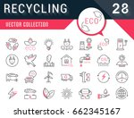 set vector line icons in flat... | Shutterstock .eps vector #662345167