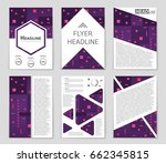 abstract vector layout... | Shutterstock .eps vector #662345815