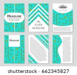 abstract vector layout... | Shutterstock .eps vector #662345827