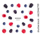 Seamless Pattern With Raspberr...