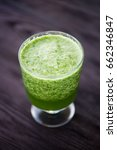 fresh smoothies kiwi in glass.... | Shutterstock . vector #662346847