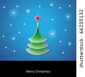 card with christmas tree   Shutterstock .eps vector #66235132