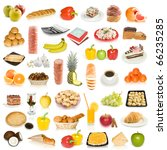 food collection isolated on... | Shutterstock . vector #66235285