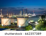 gas storage tanks and oil tank... | Shutterstock . vector #662357389