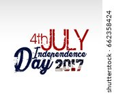 american independence day . 4th ... | Shutterstock .eps vector #662358424