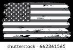grunge american flag.vector...   Shutterstock .eps vector #662361565