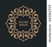 circular arabic pattern. round... | Shutterstock .eps vector #662361919