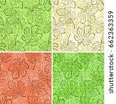 set tile backgrounds  fig tree... | Shutterstock .eps vector #662363359