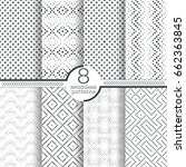 set of vector seamless pattern. ... | Shutterstock .eps vector #662363845