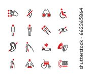 disabled vector icons.... | Shutterstock .eps vector #662365864