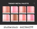 rose gold gradient template.... | Shutterstock .eps vector #662366299