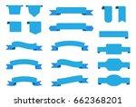 vector ribbon banners set of... | Shutterstock .eps vector #662368201