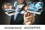 businessman on blurred... | Shutterstock . vector #662369545