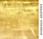 gold metal grunge wall texture. ... | Shutterstock . vector #662370319
